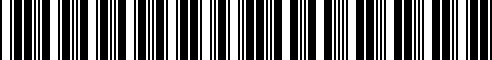 Barcode for 999B1-J6000