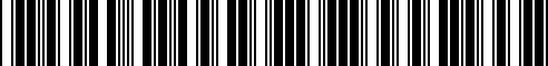 Barcode for B64D0-1MA0A