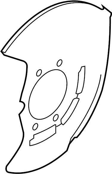 Infiniti Fx35 Brake Dust Shield - 41151-1ex1a