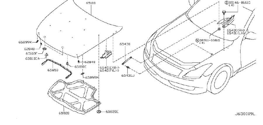 65450-jl00a - door hinge cap  right