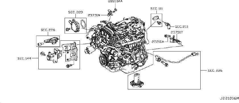 23731-hg00e - Engine Crankshaft Position Sensor  Cover