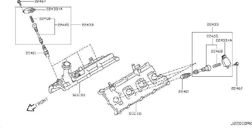 22401-5m015 - Spark Plug  Mod