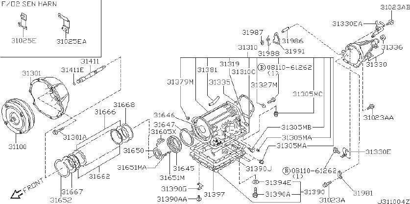 INFINITI Q45 Automatic Transmission Oil Pan Gasket - C1397 ...
