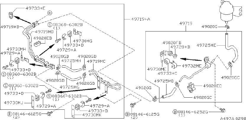 INFINITI Q45 Power Steering Reservoir - 49192-15U00 ...