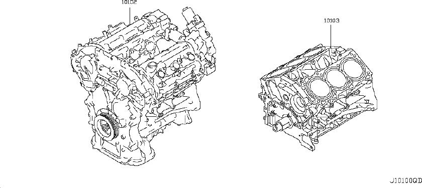 10103-3wjmc - Engine Short Block