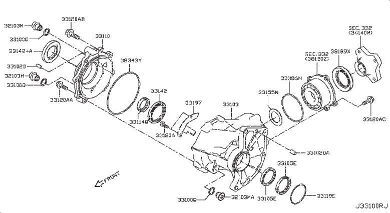 Nissan Rogue Bolt. AWD, WHEEL, DRIVE - 32152-3KA0C | HYMAN ...  |All Wheel Drive Transfer Case Diagram
