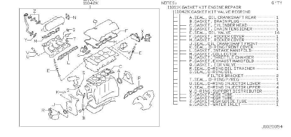 10101-7j027 - Engine Gasket Set  Kit