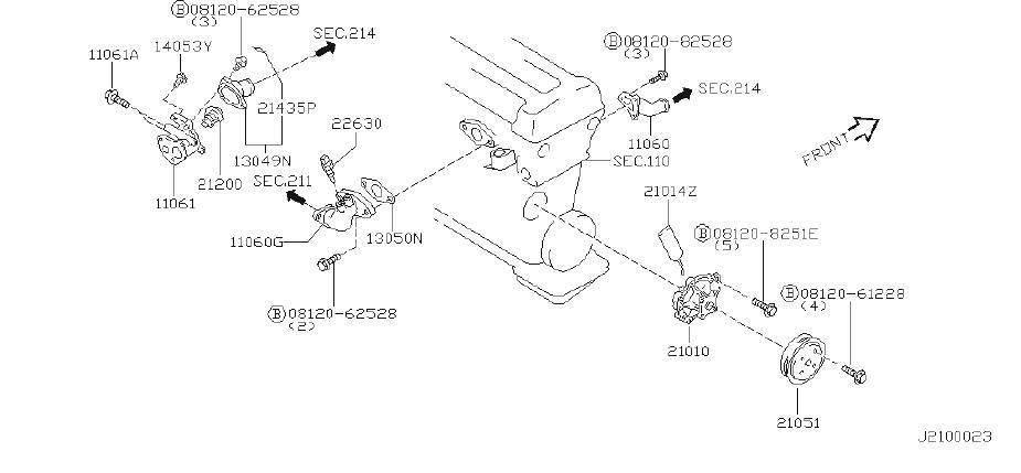 21200-60j00 - engine coolant thermostat  cooling  nihon  fuji