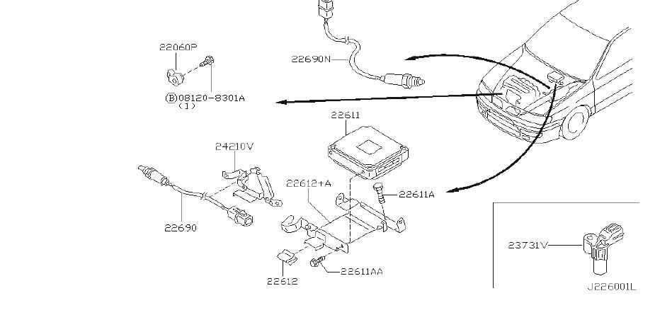 23731-0j200 - engine crankshaft position sensor