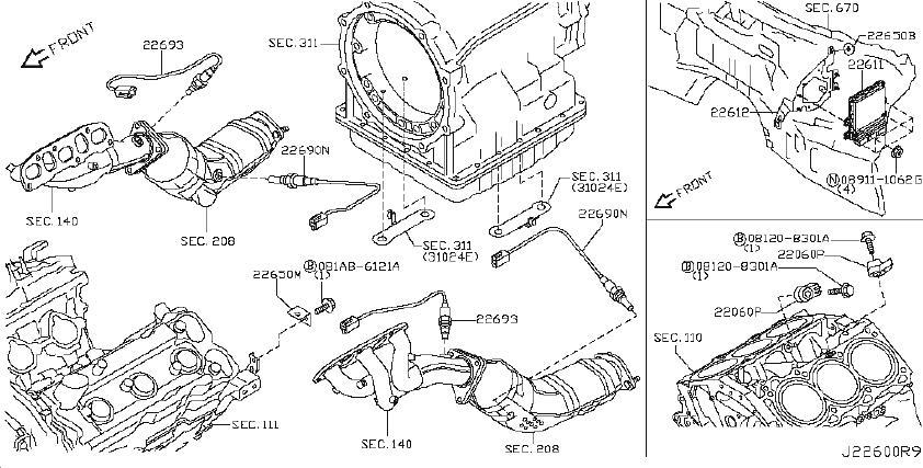 Infiniti Fx35 Srs Product  Engine Control Unit  Powertrain