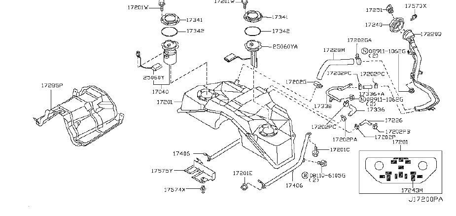 17040-ev10a - Fuel Pump Inner Tank  Pump Complete Fuel  Irs  Model