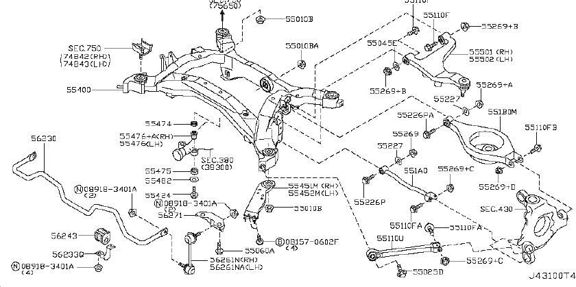 2003 Infiniti G35 Alignment Pinion Angle Arm  Rod Complete