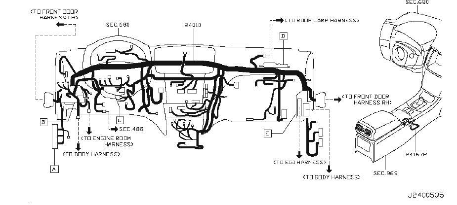 Infiniti G37 Harness Egi Sub  Harness Sub  Engine Room